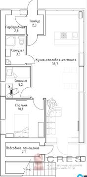 1-этажный коттедж 65 м2 на участке 6 сот, в поселке Экофедоровке - Фото 2