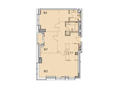 """Продается 3-к. квартира, 88,55 кв.м. в ЖК """"Фили парк"""" - Фото 1"""