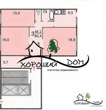 Продается 3-х комнатная квартира Москва, Зеленоград к1620 - Фото 2