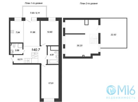 Продажа 3-комнатной квартиры 140,7 м2 - Фото 1