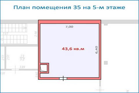 Помещение свободного назначения 43,6 кв.м в новом ТЦ, 6 км от МКАД - Фото 1