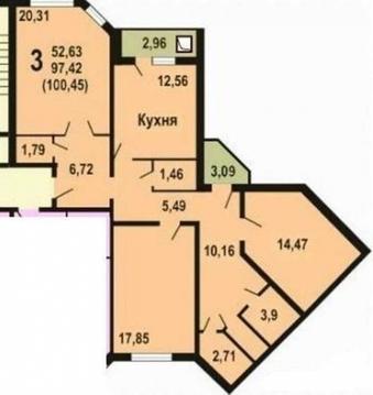 Продается квартира, Чехов, 101м2 - Фото 3