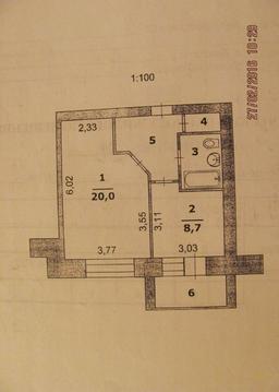 1-к.кв. 43 м, новый дом, кирпич, центр города, парк. - Фото 1