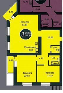 3к Широтная Закрытый двор 114м2