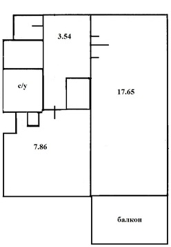 Светлая квартира с хорошей планировкой, Купить квартиру в Санкт-Петербурге по недорогой цене, ID объекта - 321604584 - Фото 1