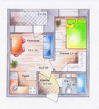 Однокомнатная квартира в Уфимском Крыму д.Старые Киешки