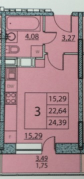 Продаю квартиру-студию в новостройке в 10 минутах езды от метро - Фото 5