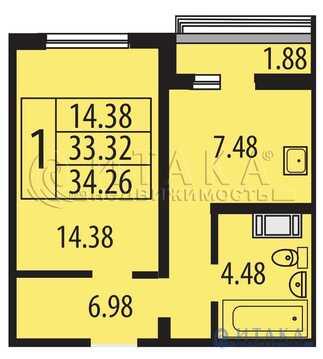 Продажа квартиры, м. Комендантский проспект, Ул. Парашютная - Фото 2