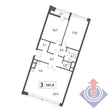 Объявление №43303084: Квартира 3 комн. , ул. Маломосковская,