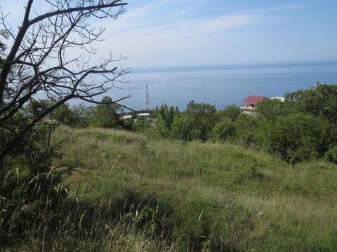 Продам земельный участок 8 сот. г. Ялта, пос. Бекетово. Вид на море. - Фото 1