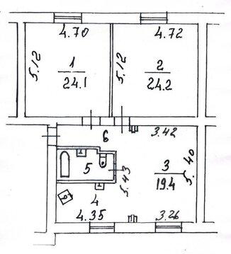 Срочно элитную 3-х ком. кв. 90 кв.м с евтроремонтом в сталинском доме - Фото 1