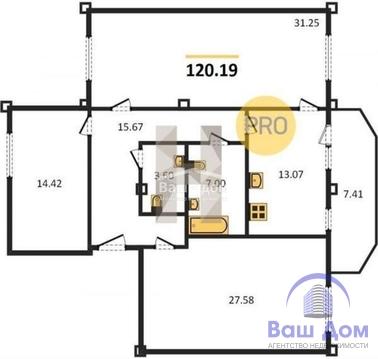 3 комнатная квартира в Александровке, проспект 40-летия Победы. - Фото 1