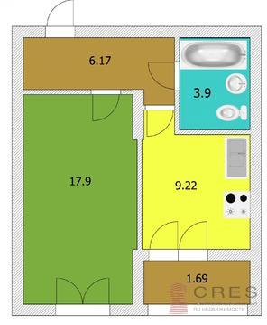 1- комнатная квартира в микрорайоне Глумилино - Фото 2