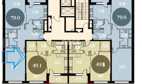 Квартира 50 кв.м. в ЖК Наследие, в собственности, без отделки, . - Фото 2