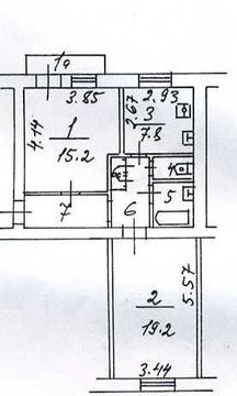 Продается 2-комнатная квартира по адресу: ул Новозаводская 25 к корп. - Фото 2