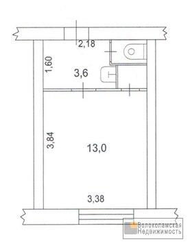 Малогабаритная 1-комнатная квартира в центре Волоколамска - Фото 4