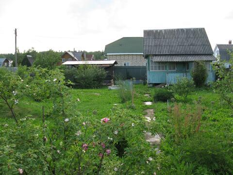 Хороший участок 6 соток с домиком свет и колодец 45 км от МКАД Киевка - Фото 1