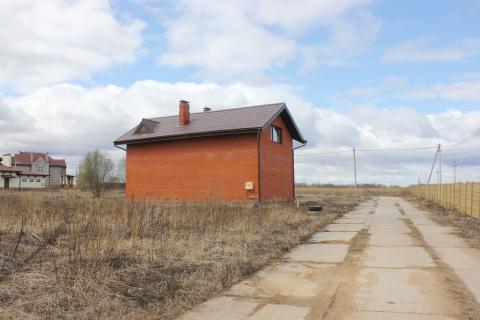 Дом из блоков обложен кирпичом, 120 кв.м. д. Пересветово. - Фото 1