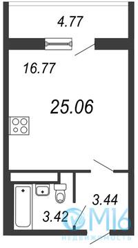 Продажа 1-комнатной квартиры, 25.06 м2 - Фото 2