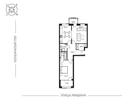 2-комн. квартира 74,2 кв.м. в новом 7-ми этажном доме САО г. Москвы - Фото 4