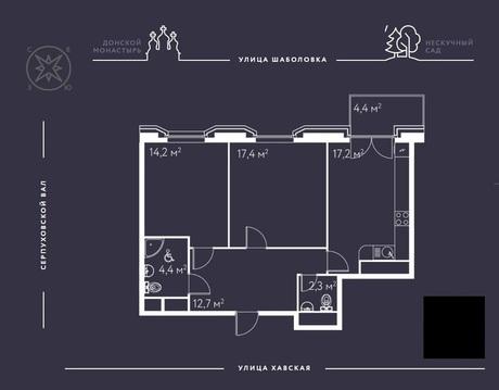 2-комн. квартира 72,6 кв.м. в доме премиум-класса в ЦАО г. Москвы - Фото 5