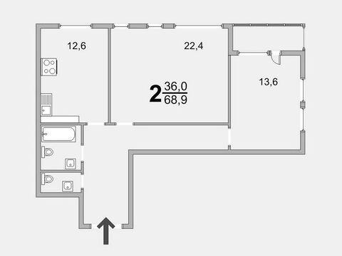 Обмен 2 комн. квартиры 69 кв.м. в новом доме Зеленограда - Фото 1