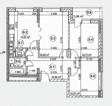 3-комн. квартира 75,52 кв.м. в доме комфорт-класса в ВАО Москвы - Фото 5