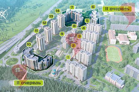3-комн. кв. 88.62 кв.м. 1/7 эт. Подольск, Бородинский б-р, д. 2 - Фото 4