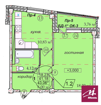 Продажа 1комн.кв. по ул. Героев Тулы,7 - Фото 2