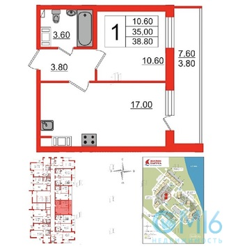 Объявление №42072890: Квартира 1 комн. Санкт-Петербург, Советский проспект, 34,