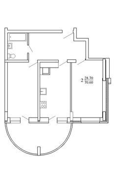 Двухкомнатная квартира в центре Твери. Индивидуальное отопление! - Фото 5