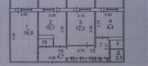 Трехкомнатная квартира в г. Кемерово, Ленинский, пр-кт Октябрьский, 67 - Фото 1