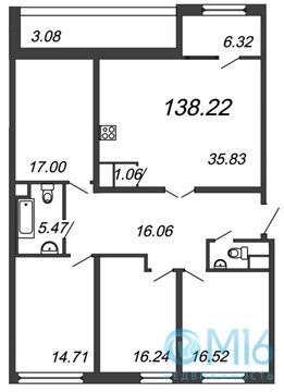 Продажа 4-комнатной квартиры, 138.22 м2 - Фото 2