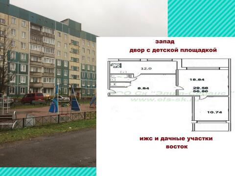 2-х комн. квартира 60 мс большой кухней и с красивым видом на в и з - Фото 1