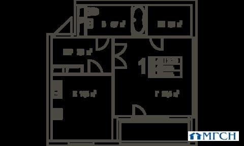 1-комн квартира в ЖК Дыхание 58,1 м2 - Фото 1