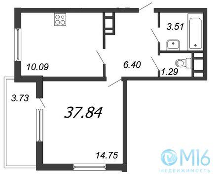 Продажа 1-комнатной квартиры, 37.94 м2 - Фото 2