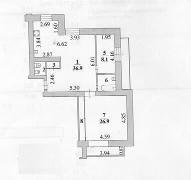 Улица Папина 2в; 3-комнатная квартира стоимостью 3590000р. город . - Фото 2