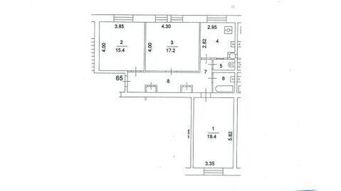Продается 3-комнатная квартира в Сталинском доме - Фото 2