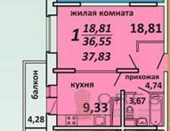Квартира в новом проекте в Подольске