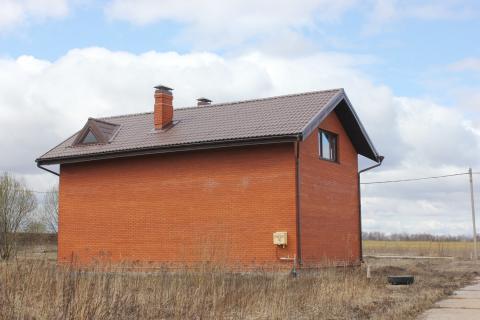Дом из блоков обложен кирпичом, 120 кв.м. д. Пересветово. - Фото 2