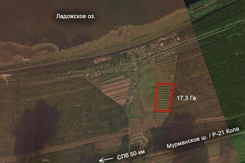 Пп земля участок под коттеджную застройку Ладога асфальт ИЖС - Фото 2