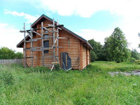 Новый двухэтажный рубленый бревенчатый дом в д. Василёво - Фото 2