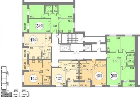 Продам 1-комнатную квартиру в новостройке с переменной этажностью . - Фото 2