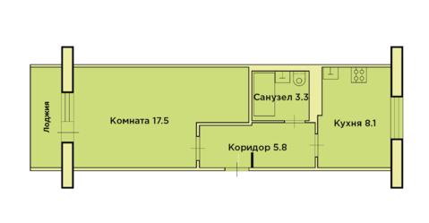 1-комнатная квартира на ул. Строителей 34 - Фото 2