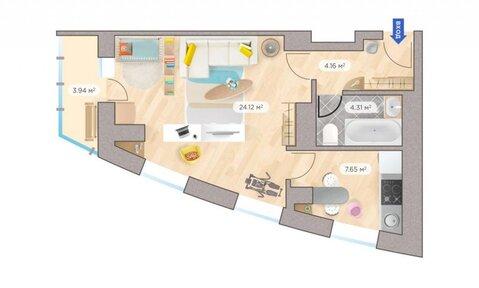 Продажа 1-комнатной квартиры, 43.13 м2, г Киров, Калинина, д. 405, к. . - Фото 5