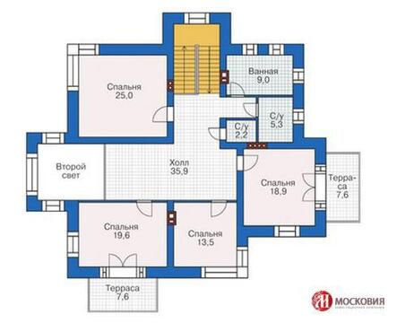 Дом 281 кв.м. на земельном участке 12 соток, г.Москва, кп Подолье - Фото 3