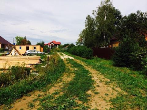 Участок крайний к лесу. д. Лукошкино территория Новой Москвы. - Фото 5