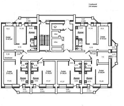 Продажа 2-комнатной квартиры, 47.5 м2, г Киров, Ленина, д. 202 - Фото 1