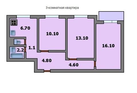 3ех комнатная квартира метро Динамо - Фото 3