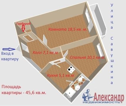 Продам 2к. квартиру. Савушкина ул. - Фото 1
